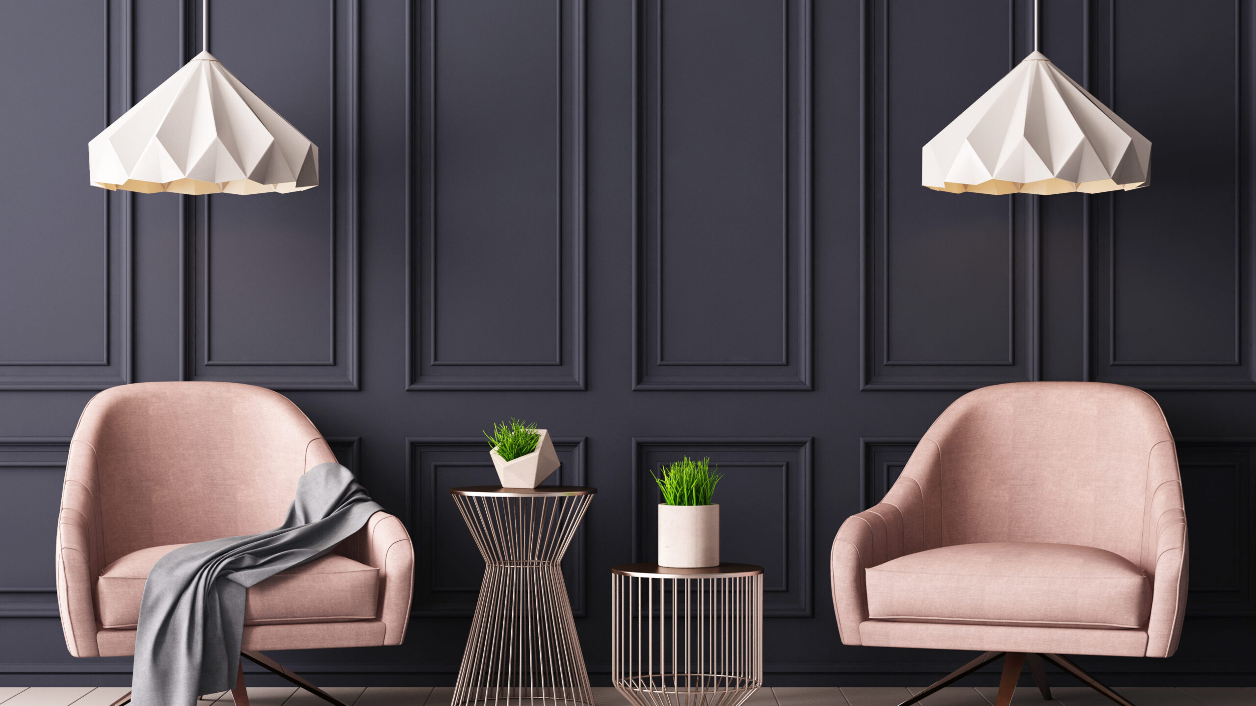 Pastel,Interior,In,Classic,Style,With,Soft,Armchairs,And,Lamps.